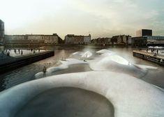 Blue Plan for Copenhagen Harbour by Tredje Natur and PK3