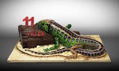 3D lizard cake