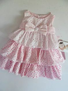 light dusty pink with ivory lace dress, toddler dress, birthday dress Baby Girl Frocks, Baby Girl Party Dresses, Frocks For Girls, Kids Frocks, Little Girl Outfits, Kids Outfits Girls, Little Dresses, Baby Outfits, Little Girl Dresses