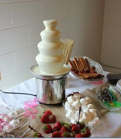 Chocolate Fountain. For a bridal shower