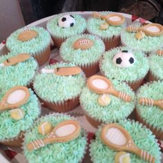 Cupcakes for a Sports Mad man
