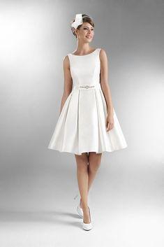 Vestido de matrimonio corto