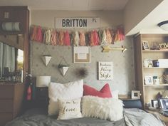Freshman Dorm wall decor // Texas Tech University TTU Murdough Stangel Chitwood