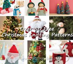 Over 50 Free Knitted Christmas Knitting Patterns