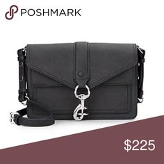 """New Rebecca Minkoff Hudson Moto Crossbody Black Brand new Rebecca Minkoff black Saffiano leather crossbody with black fabric lining. Silver hardware. Approx. 9"""" x 6.5"""" x 2.5"""" with adjustable strap, 18-25"""". Front magnet flap pocket and two main compartments inside. One slip pocket in the rear compartment. Rebecca Minkoff Bags Crossbody Bags"""