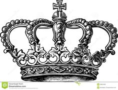 Royalty Free Illustrations and Royalty Free Clip Art Images King Crown Tattoo, Crown Tattoo Design, Crown Tattoos, Garter Tattoos, Rosary Tattoos, Bracelet Tattoos, Key Tattoos, Heart Tattoos, Skull Tattoos