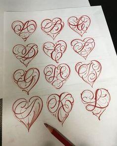 """Mi piace"": 4,642, commenti: 77 - Brigantetattoo (@brigantetattoo) su Instagram: ""--- COMING SOON --- THE complete alphabet heart initials --- #thebesttattooartists #letteringinsoul…"""