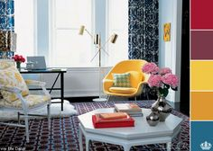 Yellow details in  living room is the new fashion.