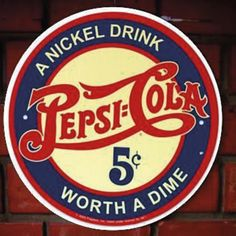 This Pepsi-Cola Big O. Tin Sign brings the rich nostalgia of a vintage soda fountain style Pepsi advertisement to freshen your kitchen or diner! Pepsi Advertisement, Old Advertisements, Retro Advertising, Vintage Metal Signs, Vintage Ads, Vintage Posters, Vintage Style, Vintage Diner, Logo Vintage