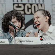 Finn Wolfhard and Millie Bobby Brown...im curious as to how they are in person...their just so young yet.