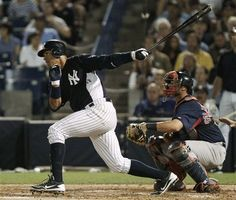 A-Rod hits a single, spring training 2012