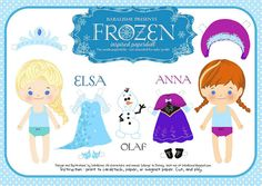 Free printable Disney Frozen Anna and Elsa paper dolls. Perfect stocking stuffer for like, every kid we know.