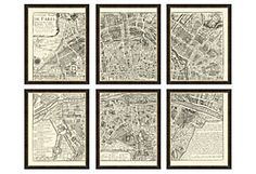 paris map in 6 pieces. i really feel i could do this myself with another type of map