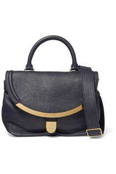 See by Chloé Lizzie small textured-leather shoulder bag .
