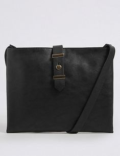 Faux Leather Soft Stud Cross Body Bag