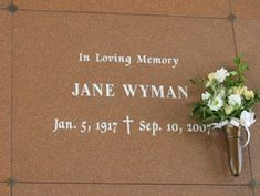 Jane Wyman (Actress) 1917-2007 Academy Award Winner was also married to Ronald Reagan