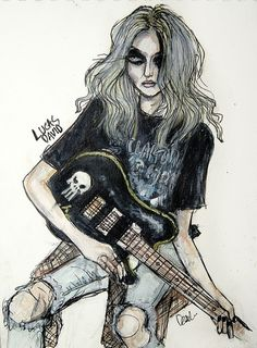 A drawn picture of Taylor Momsen. Fucking badass