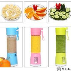 Portable USB Electric Fruit Citrus Juicer Bottle Handheld Milkshake Sm – Inspired to be the best you! Fruit Juicer, Citrus Juicer, Fruit Smoothies, Smoothie Recipes, Juicing With A Blender, Juice Blender, Juicer Machine, Smoothie Makers, Juice Bottles