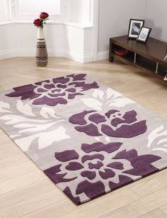 Floral Purple Rug. Love This For In My Master Bedroom. It Would Make My