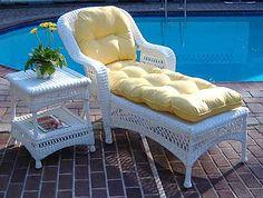 Resin Wicker Furniture, Wicker Dresser, Wicker Shelf, Wicker Planter, Wicker Baskets, Painted Furniture, Pottery Barn, Clear Dining Chairs, Lounge Cushions