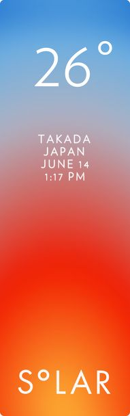 上越市 weather has never been cooler. Solar for iOS.