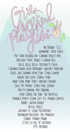 Girls Weekend Playlist | studiodiy.com