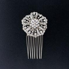 Round Crystal Haircomb