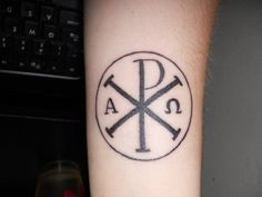 Kinda digging this Chi Rho tattoo. Maybe my next one?