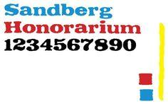 Sandberg Honorarium. Display Fonts. $20.00