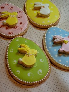 easter cookies omg LOVE this #easter #cookie stacked