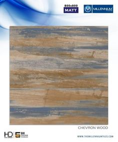 Millennium Tiles 800x800mm Vitrified Tile Matt Series - Chevron Wood