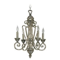 Quorum Lighting Quorum Lighting Summerset Mystic Silver Mini-Chandelier | 6126-4-58 | Destination Lighting