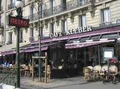 Cafe Kleber, Paris. Right across from where I used to live.