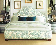 Oscar de la Renta bed for Century in Moon Vine linen blend by Oscar de la Renta from Lee Sofa