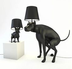 """""""Good Boy"""" and """"Good Puppy"""" are two very special design lamps, designed by British artist whatshisname."""