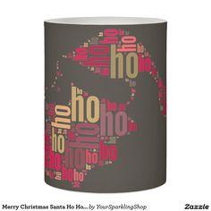 Merry Christmas Santa Ho Ho Candle  LED