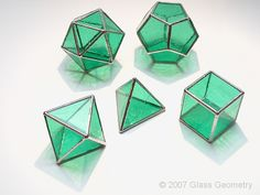 platonic solids in glass                                                                                                                                                                                 More