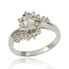 Marquise CZ Cubic Zirconia 925 Sterling Silver Bridal Wedding/Engagement Ring FlameReflection. $19.99