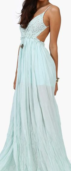 Mint Boho Maxi Dress ♥ when I get to my ideal weight something like this will be my first purchase!