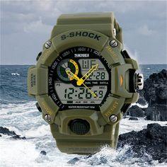 Military Men Quartz LED Digital Watch Sports Watches Brand Fashion Casual Waterproof Wristwatches New Relogio Masculino