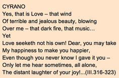 Beautiful quote from Cyrano de Bergerac