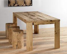 Tavolo in legno di briccola Venezia - Tavolo legno briccole