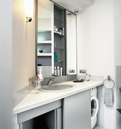 Washing machine, bathroom