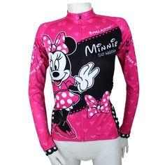 Mickey Mouse Women Cycling Jerseys Long Biking Apparel Cycle Clothing S - XXXL #NEW