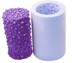 3DHigh Hubble-bubble Cylinder  Soap Mold Flexible Silicone
