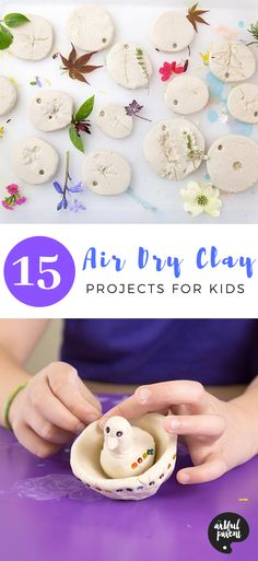 We love Crayola Air Dry Clay, and have used it for years! Here's our top 15 air dry clay art project ideas for kids at home right now. via @TheArtfulParent Air Dry Clay Ideas For Kids, Clay Projects For Kids, Clay Crafts For Kids, Kids Clay, Air Dry Clay Crafts, Crayola Air Dry Clay, Spring Arts And Crafts, Summer Crafts, Clay Activity