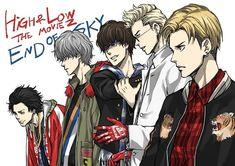 Fan art of good movie. High and Low. Crows Zero, Warrior 2, Bad Gal, Manga Drawing, Jojo's Bizarre Adventure, Tokyo Ghoul, Good Movies, Sword, High Low