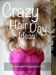 Tuesday Tips: Crazy Hair Day Ideas