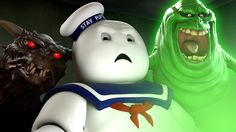 Stay Puft Marshmallow Man Reacts to the New Ghostbusters Trailer With Some Old Friends
