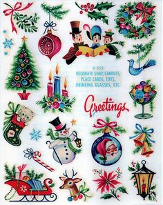 This is a beautiful sheet of decals from the 1950s in the blue packaging of Meyercords with an early stock number. I have opened one package to get a